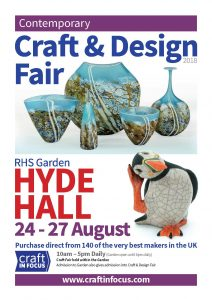 RHS Garden Hyde Hall Contemporary Craft & Design Fair August 2018